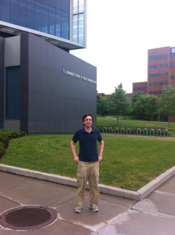 Geoff Campbell at the S.I. Newhouse School of Public Communications