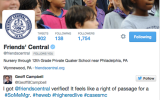 friends' central verified twitter account