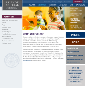 admission home page