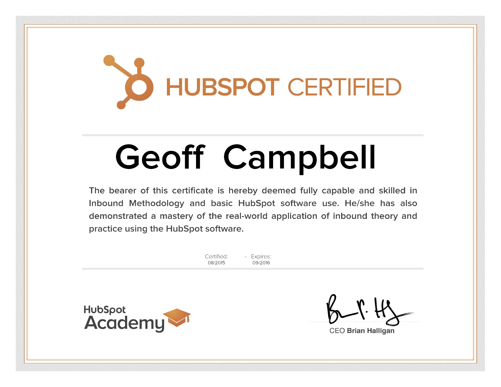 Im Now Hubspot Certified Geoff Campbell