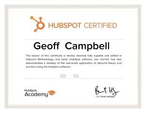 Geoff Campbell HubSpot Certified